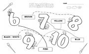 English Worksheet: KINDER  (PRE-SCHOOL)  NUMBERS � SET 2