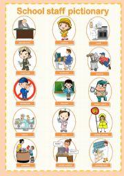 School staff pictionary 1/3