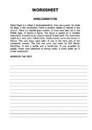 English Worksheets: AMALGAMATION2