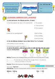 English Worksheet: mid term test 8TH FORM