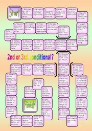 English Worksheet: 2ND AND 3RD CONDITIONAL BOARDGAME WITH KEY