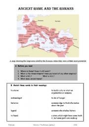 English Worksheet: ancient rome and the romans