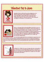 English Worksheet: Valentine�s day in JAPAN
