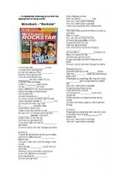 English Worksheet: Nickelback´s Rockstar - Fill in the blanks