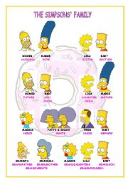 English Worksheet: THE SIMPSONS� FAMILY