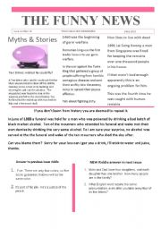 English Worksheet: Funny News issue number 12 conversation,reading and writing prompts   Worksheets