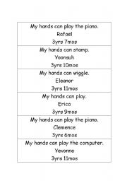 English Worksheets: Story based follow up activity with actions