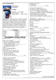 English Worksheets: Screen English Worksheet with blanks (Movie : Bruce Almighty)