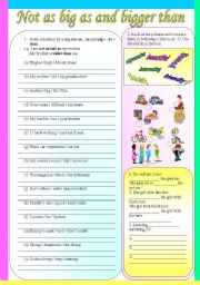 English worksheets: comparison worksheets, page 4