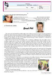 English Worksheet: Test-Media-Cinema (TEST  A)