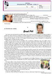 English Worksheet: Test-Media-Cinema (PART B)