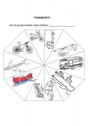 How do you go to school? - Transport Wheel