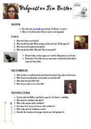 English Worksheets: webquest on tim burton