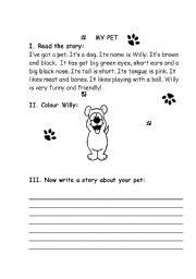 English Worksheets: My pet