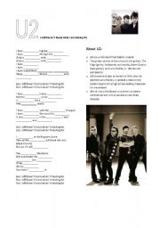 English Worksheet: U2 - I still haven´t found what I am looking for
