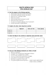 English Worksheet: South Africa 2010 - Football World Cup