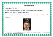 English Worksheets: INFORMATION AND QUESTIONS ABOUT THE BRITISH PARLIAMENT