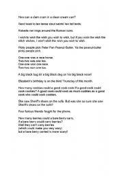 English Worksheets: toungue twister