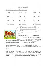 Printables Ou Ow Worksheets ou ow worksheets bloggakuten and bloggakuten