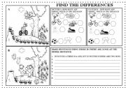 English Worksheets: find the differences-there is/are