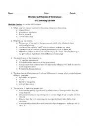 English Worksheets: Structures of Gov