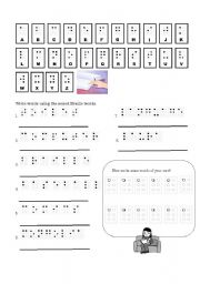 English Worksheets: Braille messages