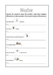 english worksheets the weather worksheets page 74. Black Bedroom Furniture Sets. Home Design Ideas