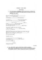 English Worksheet: Modals: Beach Boys� fill in the blanks song