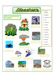 English Worksheets: Disasters