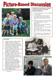 English Worksheet: Picture-Based Discussion (10): Generations