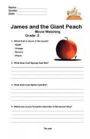Printables James And The Giant Peach Worksheets james and the giant peach worksheets abitlikethis home gt movies movie watching