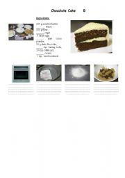 English Worksheets: Chocolate Cake Pairwork Part 3