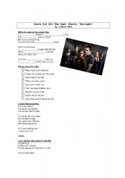 English Worksheets: Leave out all the rest by Linkin Park - Twilight movie