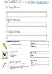 English Worksheets: Rules