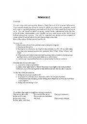 English Worksheets: Newscast