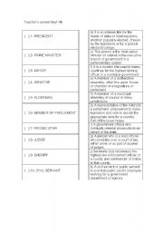 English Worksheet: Politics vocabulary