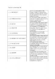 English Worksheet: Politics vocabulary