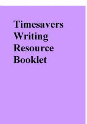 English Worksheet: Timesavers writing resource booklet a