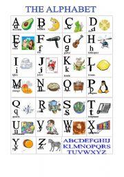 English Worksheet: Alphabet Cognates