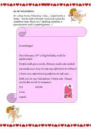 Be my Valentine  worksheet by Maria