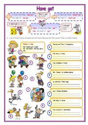 English Worksheet: Have got (2)