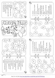 English Worksheet: Phrasal Verbs Mini Book