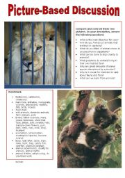 English Worksheet: Picture-Based Discussion (3): Animals