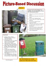 English Worksheet: Picture-Based Discussion (1): The Environment(1): Waste