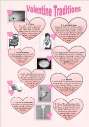 English Worksheet: Valentine´s Day Traditions