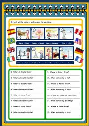 English Worksheet: PERSONAL INFORMATION - TEST (PAGES 3 AND 4)