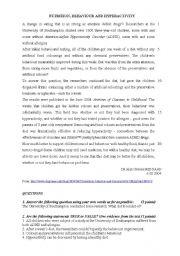 English Worksheets: hyperactivity