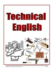 English Worksheets: TECHNICAL ENGLISH  - (4 pages)