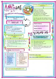 English Worksheets: SONG: BiG GiRlS yOu ArE Beautiful by Mika. Song + Bio + key