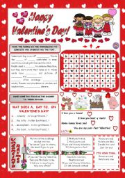 English Worksheets: HAPPY VALENTINE´S DAY!